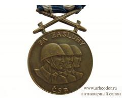 Чехословакия воинская медаль За заслуги