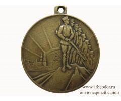 Латвия медаль в память 10-летия независимости Латвийской Республики.