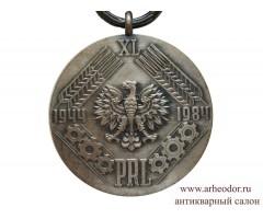 Польша медаль 40 лет Народной Польше