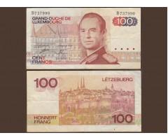 Люксембург 100 франков 1980 года
