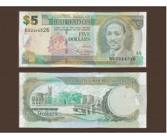 Барбадос 5 долларов 2007 год