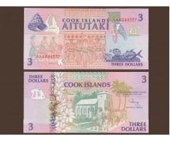 Острова Кука 3 доллара 1992 год