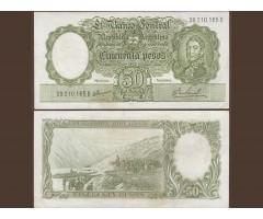 Аргентина 50 песо 1955-68 год