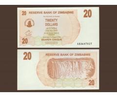 Зимбабве 20 долларов 2006 год