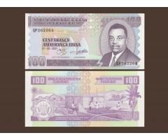 Бурунди 100 франков 2001 год