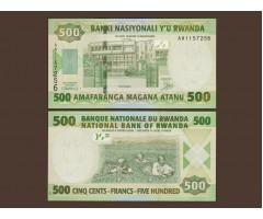 Руанда 500 франков 2004 год