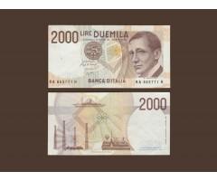 Италия 2000 лир 1990 года