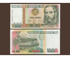 Перу 1000 инти 1988 год