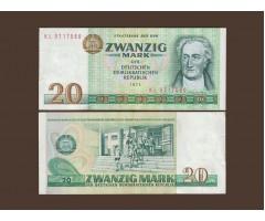 Германия ГДР 20 марок 1975 год