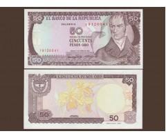 Колумбия 50 песо 1986 год