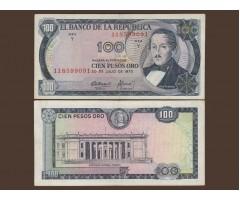 Колумбия 100 песо 1973 год