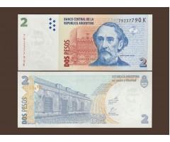 Аргентина 2 песо 2002 год
