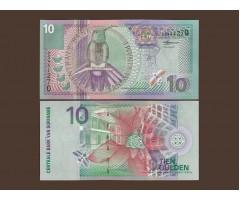 Суринам 10 гульденов 2000 год