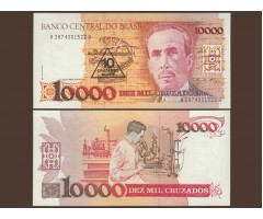 Бразилия 10000 крузадо (10 новых крузадо) 1989-90 гг