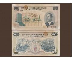 Люксембург 100 франков 1968 год
