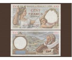 Франция 100 франков 1940 год