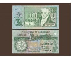Гернси 1 фунт 1991 год