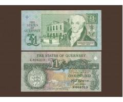 Гернси 1 фунт 1991 года