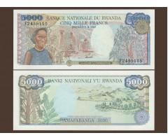 Руанда 5000 франков 1988 года