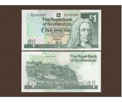 Шотландия 1 фунт 1999 года