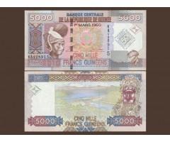 Гвинея 5000 франков 2010 года