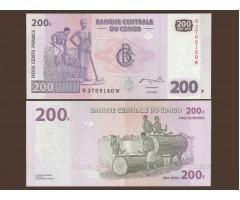 Конго 200 франков 2007 года