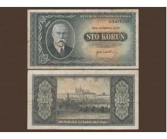 Чехословакия 100 крон 1945 года