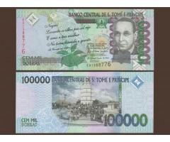 Сан-Томе и Принсипи 100000 добр 2010 год