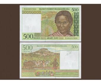 Мадагаскар 500 франков 1994 год