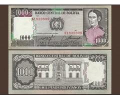 Боливия 1000 песо 1982 год