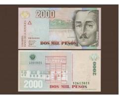 Колумбия 2000 песо 2010 год