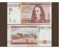 Колумбия 10000 песо 2010 год