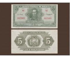 Боливия 5 боливиано 1928 год