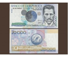 Колумбия 20000 песо 2008 год