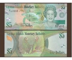 Каймановы острова 5 долларов 2010-2011 год