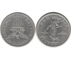 Филиппины 1 песо 1910 года S