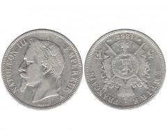 Франция 5 франков 1868 года