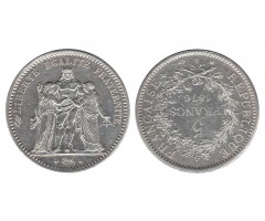 Франция 5 франков 1876 года