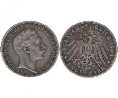Германия (Пруссия) 3 марки 1909 года А