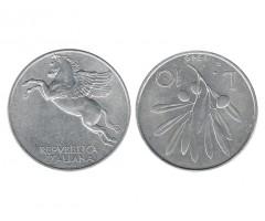 Италия 10 лир 1949 года