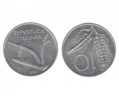 Италия 10 лир 1952 года