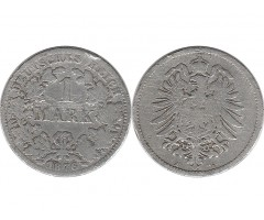 Германия 1 марка 1876 года А