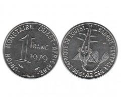 Западная Африка 1 франк 1979 года