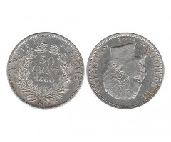 Франция 50 сантимов 1860 года А
