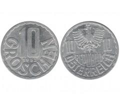 Австрия 10 грошей 1952 года