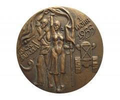 Настольная медаль Челябинский тракторный завод.Пуск завода.