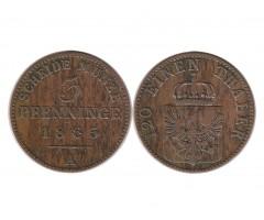 Пруссия 3 пфеннига 1863 года А