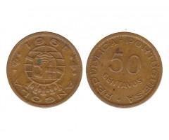 Ангола 50 сентаво 1961 года