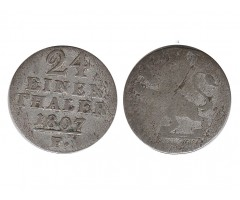Гессен-Кассель 1/24 талера 1807 года F