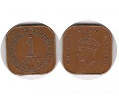 Малайя 1 цент 1945 года